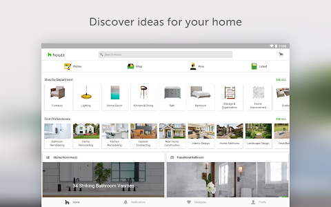 screenshot of Houzz - Home Design & Remodel version Varies with device