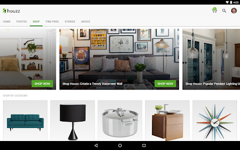screenshot of Houzz Interior Design Ideas version 5.13