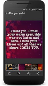 screenshot of I Miss You Quotes & Romantic I Love You Sayings version 2.1