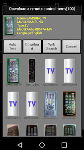 screenshot of MyRemocon (IR Remote Control) version 3.25