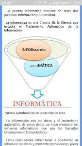 screenshot of Aprendiendo Informática version 2