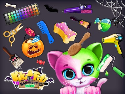 screenshot of Kiki & Fifi Halloween Salon - Scary Pet Makeover version Varies with device