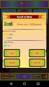 screenshot of Kinq Mine Clicker version 1.12