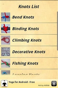 screenshot of Knots Guide version 2.2