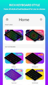 screenshot of LED Keyboard Lighting - Mechanical Keyboard RGB version 5.3.2