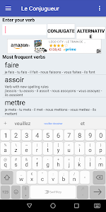 screenshot of Le Conjugueur version 2.78