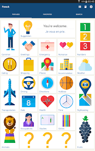 screenshot of Learn French Phrases | French Translator version Varies with device