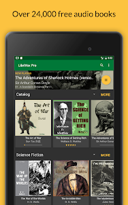 screenshot of LibriVox Audio Books Free version Varies with device