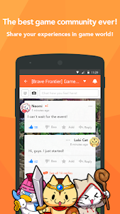 screenshot of Lobi / Free game, Group chat version 8.7.2