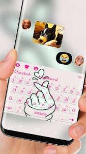 screenshot of Love You pink Keyboard version 10001002