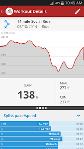 screenshot of Map My Ride GPS Cycling Riding version 16.5.0