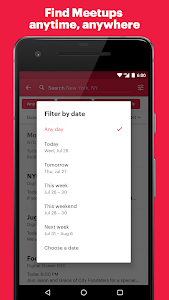screenshot of Meetup: Find events near you version 3.18.0