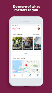 screenshot of Meetup: Find events near you version Varies with device