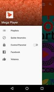 screenshot of Mega Player version 1.0.3