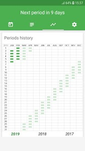 screenshot of Period Tracker version 1.2.17