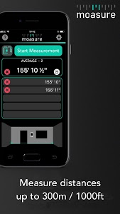screenshot of Moasure – the smart tape measure version 3.0.1