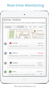 screenshot of Mobile Fence Parental Control version 2.9.2.3