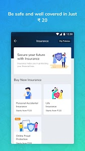 screenshot of Recharge, Bill Payment,Instant Loan, UPI,Insurance version 19.1.1