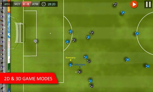 screenshot of Mobile Soccer League version 1.0.25
