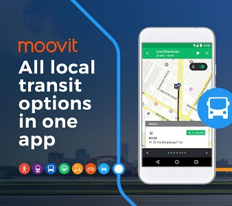 screenshot of Moovit: Bus Times, Train Times & Live Updates version Varies with device
