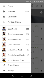 screenshot of Muslim Central - Islamic Audio Lectures - Official version 3.7.3