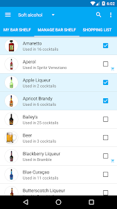 screenshot of My Cocktail Bar version 2.1.0