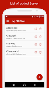 screenshot of My FTP Client - FTP Server Manager version 2.8