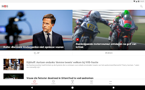 screenshot of NOS version Varies with device