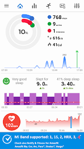 screenshot of Notify & Fitness for Mi Band version 8.17.0