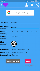 screenshot of Online Girls Chat Meet version 9.2