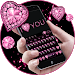 Pink Heart Diamond Keyboard