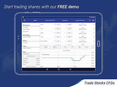 screenshot of Plus500: CFD Online Trading on Forex and Stocks version 11.40