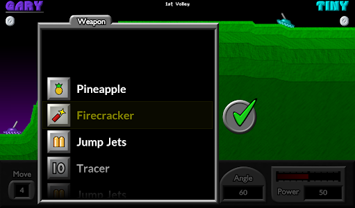 screenshot of Pocket Tanks version Varies with device