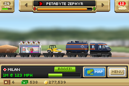 screenshot of Pocket Trains version 1.2.2