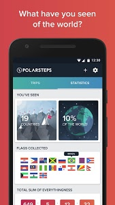 screenshot of Polarsteps - Travel Tracker version 1.7.4.11