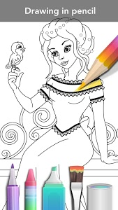 screenshot of Princess coloring book version 3.0.5