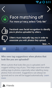 screenshot of PrivacyFix for Social Networks version 3.0.2