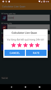 screenshot of Quan huy Lien quan mobile calculator version 1.0
