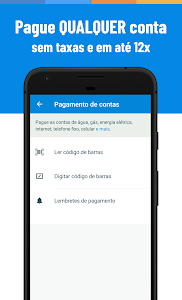 screenshot of Recarga Celular, Pagar Contas e Bilhete Único version Varies with device