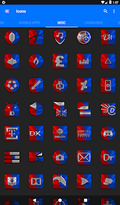 screenshot of Red and Blue Icon Pack ✨Free✨ version 1.9