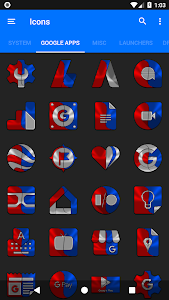screenshot of Red and Blue Icon Pack ✨Free✨ version 1.4