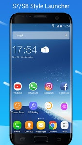 screenshot of S7/S8 Launcher for Galaxy S/A/J/C, theme icon pack version 3.6