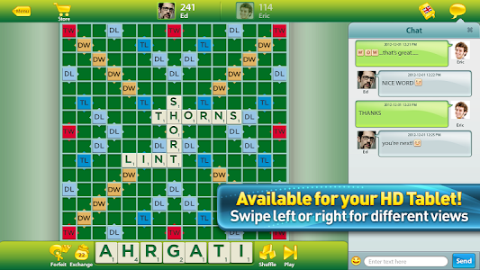 screenshot of SCRABBLE™ version 5.36.0.938
