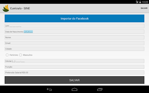 screenshot of SINE - Vagas de Empregos version 2.10.3