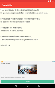 screenshot of Santa Biblia Gratis version Varies with device