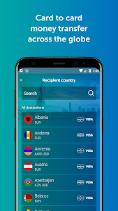 screenshot of Send money online: card to card version 2.5.4