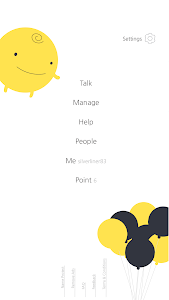 screenshot of SimSimi version 6.8.8.9
