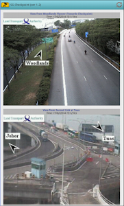 screenshot of Singapore Checkpoint Traffic version 6.7
