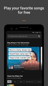 screenshot of SoundHound - Music Discovery & Lyrics version Varies with device