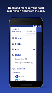 screenshot of Southwest Airlines version 7.1.0